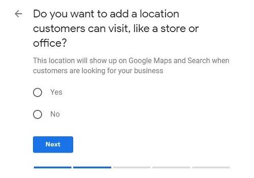 Agregar una ubicación en Google My Business