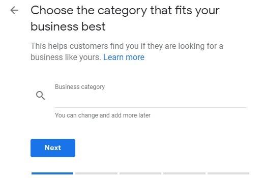Llenado de categoría empresarial