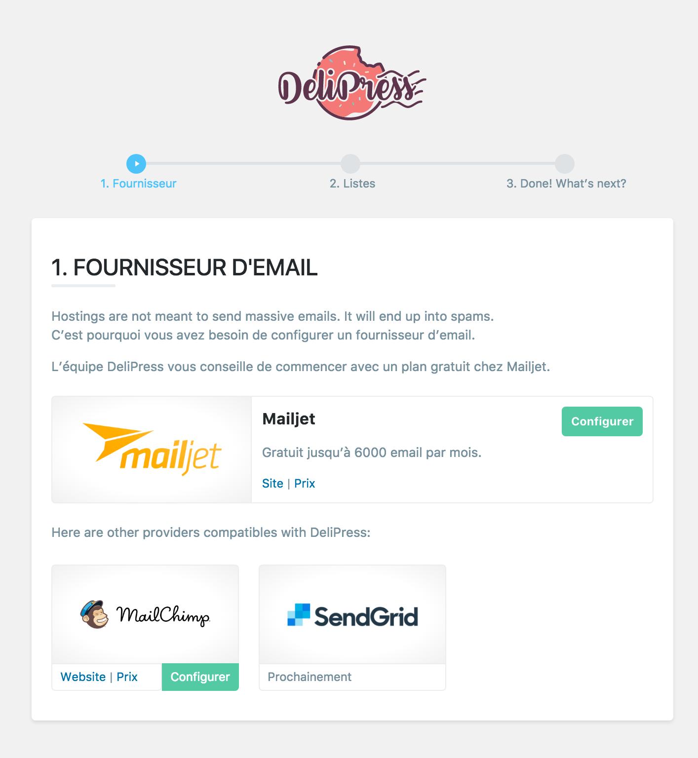 proveedores de correo electrónico delipress